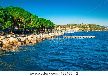 Sea bay in Portovenere Liguria Italy. Nature.