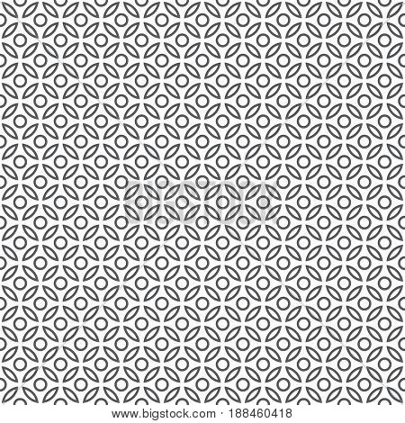 Vector seamless pattern. Modern simple texture with regularly repetition circles and ovals.