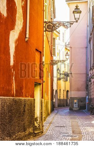 Narrow Old Street In Parma