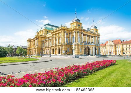 Croatian national theater building n Zagreb, Croatia
