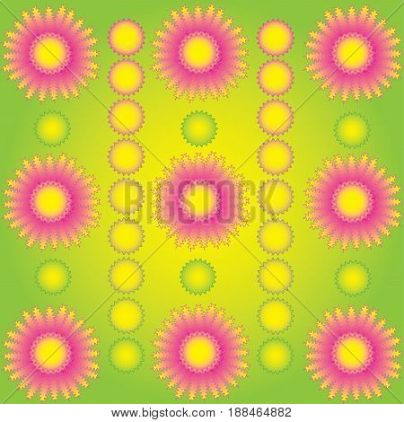 Reflective colors blooming floral background in vector format