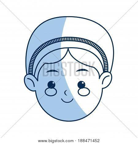 cartoon face woman manger catholic image vector illustration