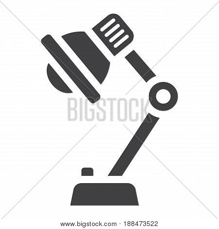 Desk lamp solid icon, bulb and light, vector graphics, a filled pattern on a white background, eps 10.