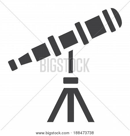 Telescope solid icon, astronomy and science, vector graphics, a filled pattern on a white background, eps 10.