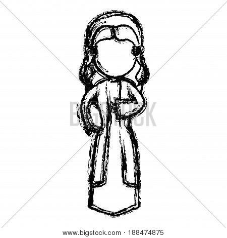 virgin mary manger character design vector illustration