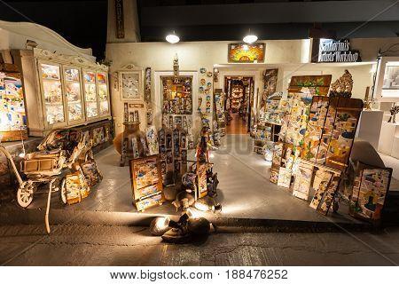 Souvenir Shop In Santorini