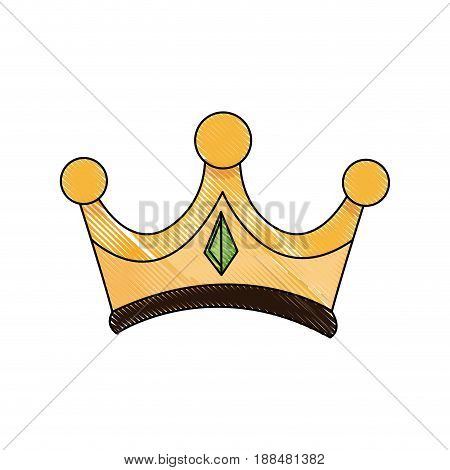crown wise king ornate jewelry image vector illustration