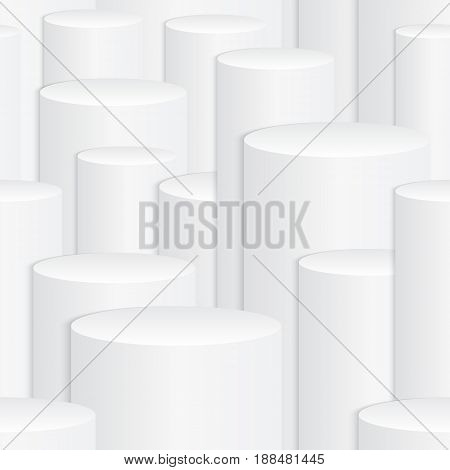 3d white abstract geometric texture with seamless pattern