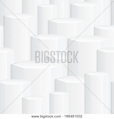 White abstract texture seamless texture of geometric shapes