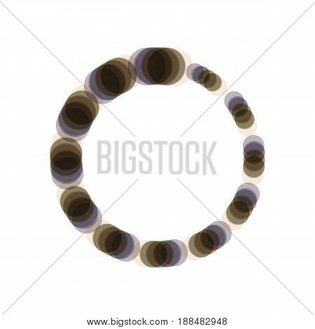 Circular loading sign. Vector. Colorful icon shaked with vertical axis at white background. Isolated.