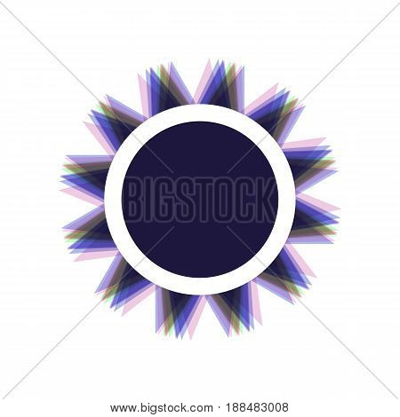 Sun sign illustration. Vector. Colorful icon shaked with vertical axis at white background. Isolated.