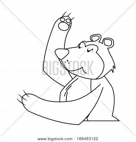 circus bear animal funny entertainment vector illustration