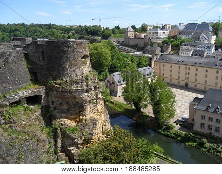 Bock Casemates and The Lower City, UNESCO World Heritage Site in Luxembourg City, Luxembourg