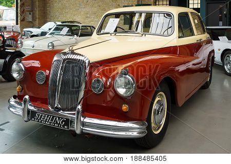 BERLIN GERMANY - MAY 17 2014: Luxury car Daimler Majestic Major V8 (1965). 27th Oldtimer Day Berlin - Brandenburg