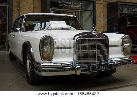 BERLIN GERMANY - MAY 17 2014: Full-size limousine Mercedes-Benz 600 (short wheelbase) 1969. 27th Oldtimer Day Berlin - Brandenburg