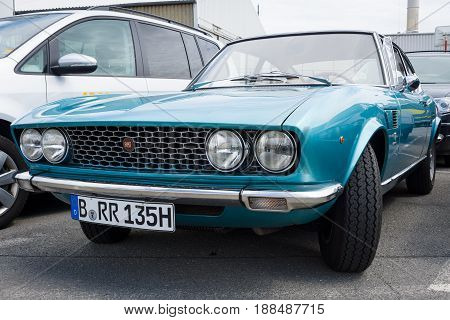 BERLIN GERMANY - MAY 17 2014: Sports coupe Fiat Dino 2000 (Type 135) 1968. 27th Oldtimer Day Berlin - Brandenburg