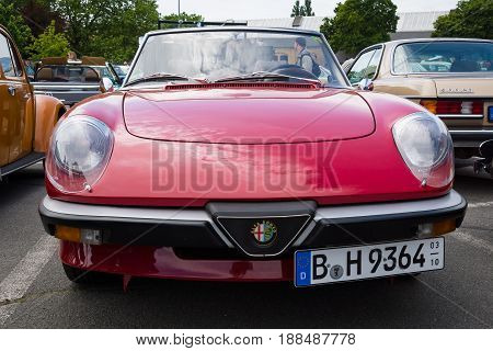 BERLIN GERMANY - MAY 17 2014: Roadster Alfa Romeo Spider (Third generation). 27th Oldtimer Day Berlin - Brandenburg