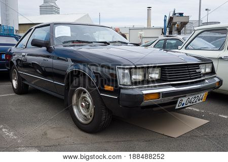 BERLIN GERMANY - MAY 17 2014: A compact sports car Toyota Celica Liftback (Third generation) 1983. 27th Oldtimer Day Berlin - Brandenburg