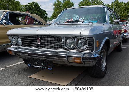 BERLIN GERMANY - MAY 17 2014: Large executive car Fiat 130. 27th Oldtimer Day Berlin - Brandenburg