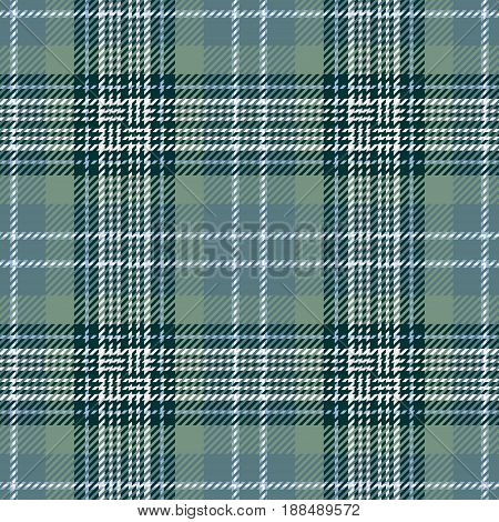Tartan Seamless Pattern Background. Green Black Blue and White Plaid Tartan Flannel Shirt Patterns. Trendy Tiles Vector Illustration for Wallpapers.