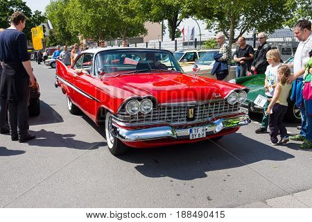 BERLIN GERMANY - MAY 17 2014: Full-size car Plymouth Belvedere (Third generation). 27th Oldtimer Day Berlin - Brandenburg