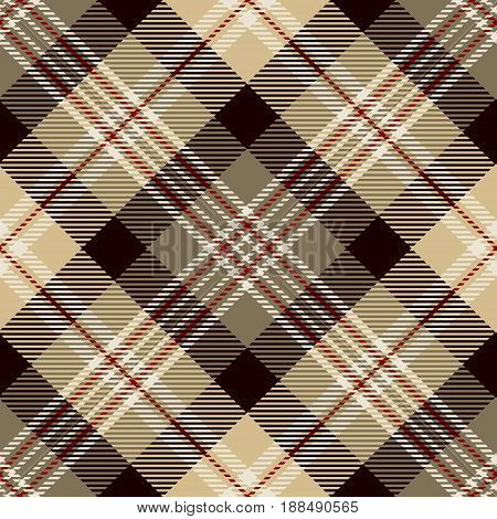 Tartan Seamless Pattern Background. Red Brown Black Beige and White Plaid Tartan Flannel Shirt Patterns. Trendy Tiles Vector Illustration for Wallpapers.
