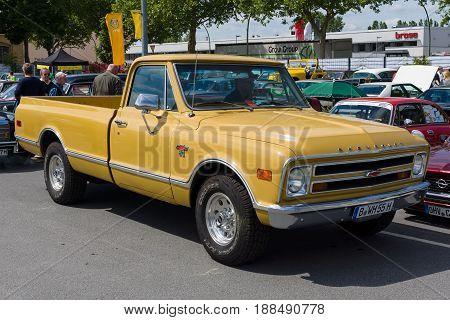 BERLIN GERMANY - MAY 17 2014: Full-size pickup truck Chevrolet C20. 27th Oldtimer Day Berlin - Brandenburg