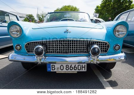BERLIN GERMANY - MAY 17 2014: Personal luxury car Ford Thunderbird (first generation). 27th Oldtimer Day Berlin - Brandenburg
