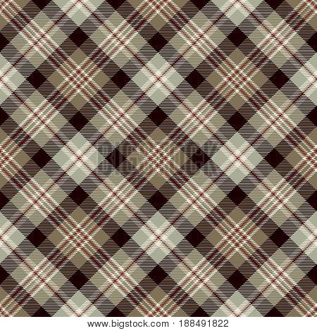 Tartan Seamless Pattern Background. Red Brown Black Gray and White Plaid Tartan Flannel Shirt Patterns. Trendy Tiles Vector Illustration for Wallpapers.