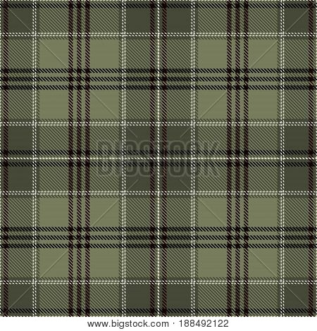 Tartan Seamless Pattern Background. Green Black and White Plaid Tartan Flannel Shirt Patterns. Trendy Tiles Vector Illustration for Wallpapers.