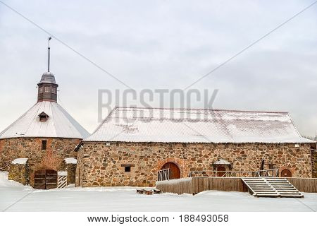 Old Korela fortress in the town of Priozersk, Russia.
