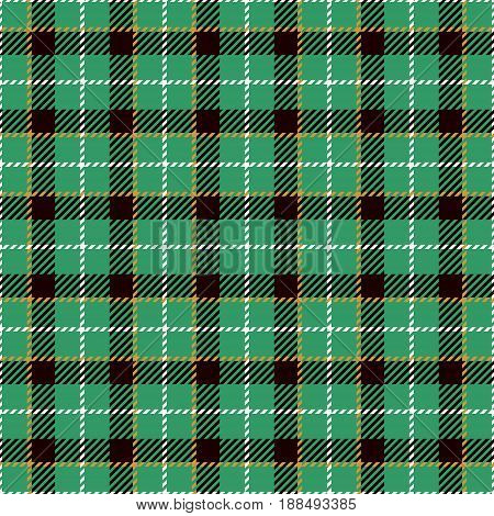 Tartan Seamless Pattern Background. Green Yellow Black and White Plaid Tartan Flannel Shirt Patterns. Trendy Tiles Vector Illustration for Wallpapers.
