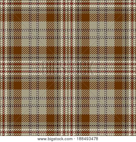 Tartan Seamless Pattern Background. Beige Red Black and White Plaid Tartan Flannel Shirt Patterns. Trendy Tiles Vector Illustration for Wallpapers.