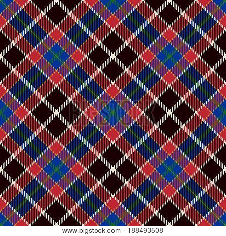 Tartan Seamless Pattern Background. Blue Red Black and White Plaid Tartan Flannel Shirt Patterns. Trendy Tiles Vector Illustration for Wallpapers.