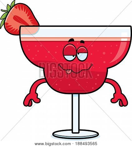Drunk Cartoon Strawberry Daiquiri