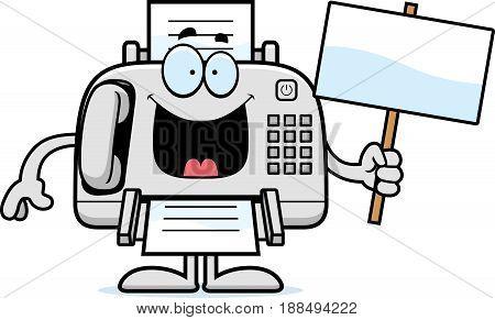 Cartoon Fax Machine Sign