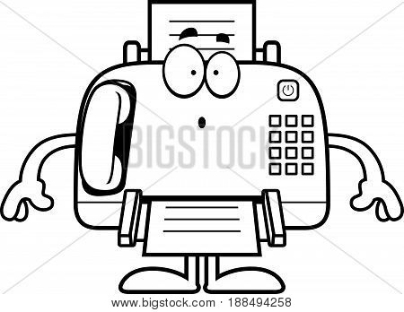 Surprised Cartoon Fax Machine