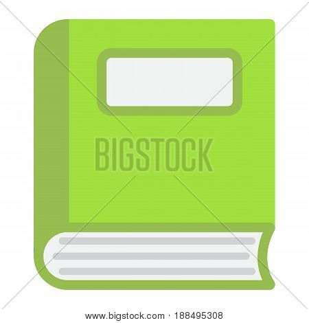 Book flat icon, Education and school, vector graphics, a colorful solid pattern on a white background, eps 10.