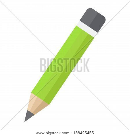 Pencil flat icon, Education and school, vector graphics, a colorful solid pattern on a white background, eps 10.