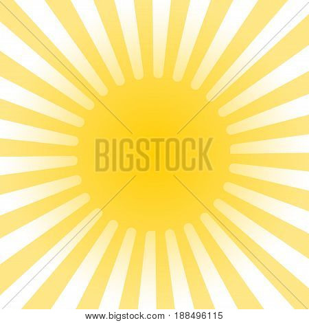 Stock sun rays icon or background - vector illustration.