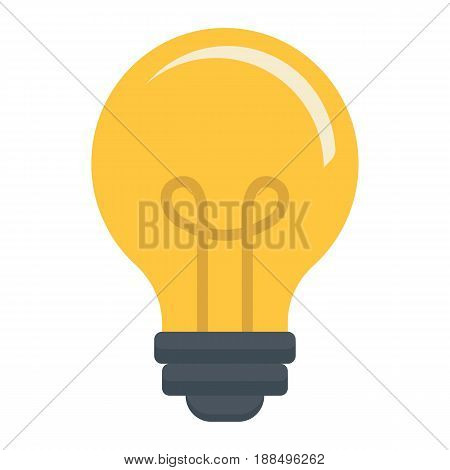 Light Bulb flat icon, lamp and idea, light vector graphics, a colorful solid pattern on a white background, eps 10.