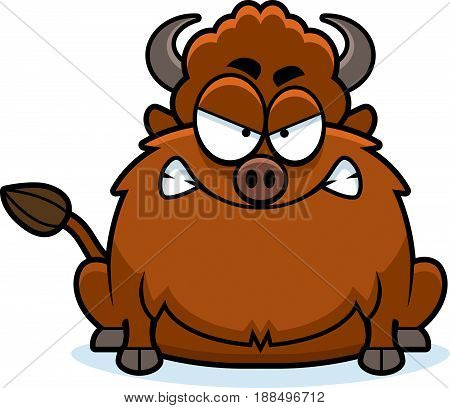 Angry Cartoon Bison