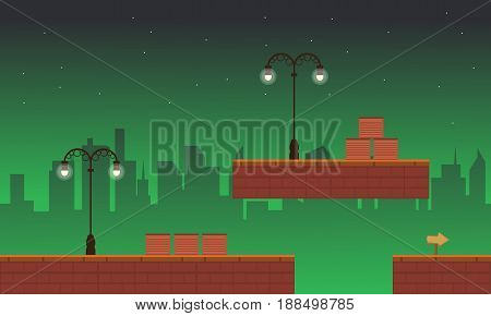 Collection stock street style game background vector illustration