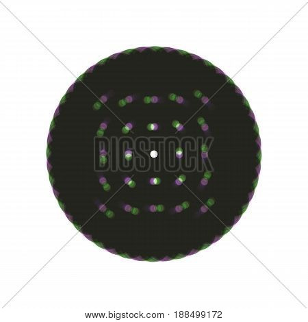 Round biscuit sign. Vector. Colorful icon shaked with vertical axis at white background. Isolated.