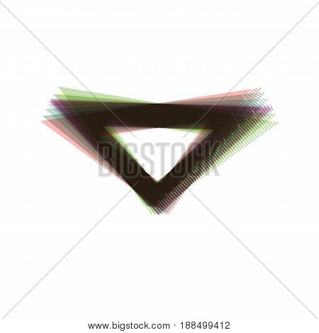 Ruler sign illustration. Vector. Colorful icon shaked with vertical axis at white background. Isolated.