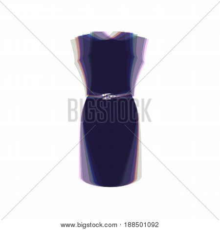 Dress sign illustration. Vector. Colorful icon shaked with vertical axis at white background. Isolated.
