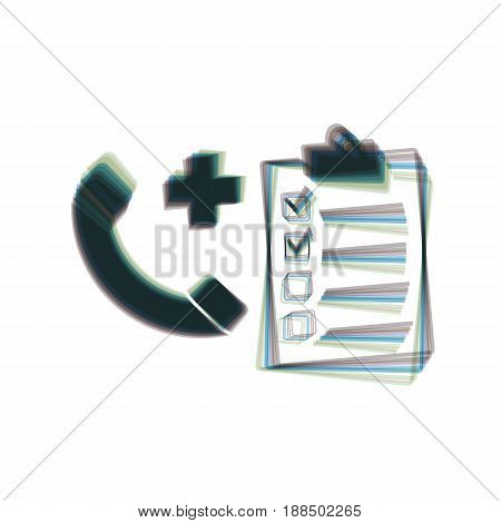 Medical consultation sign. Vector. Colorful icon shaked with vertical axis at white background. Isolated.