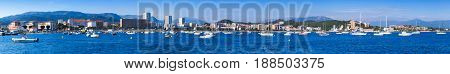 Port Of Ajaccio, Corsica, Extra Wide Photo