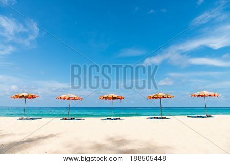 Concept Of Relax On Tropical Resort Beach