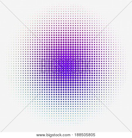 Colorful Halftone dotted Gradation for web Design or Print. Vector Illustration